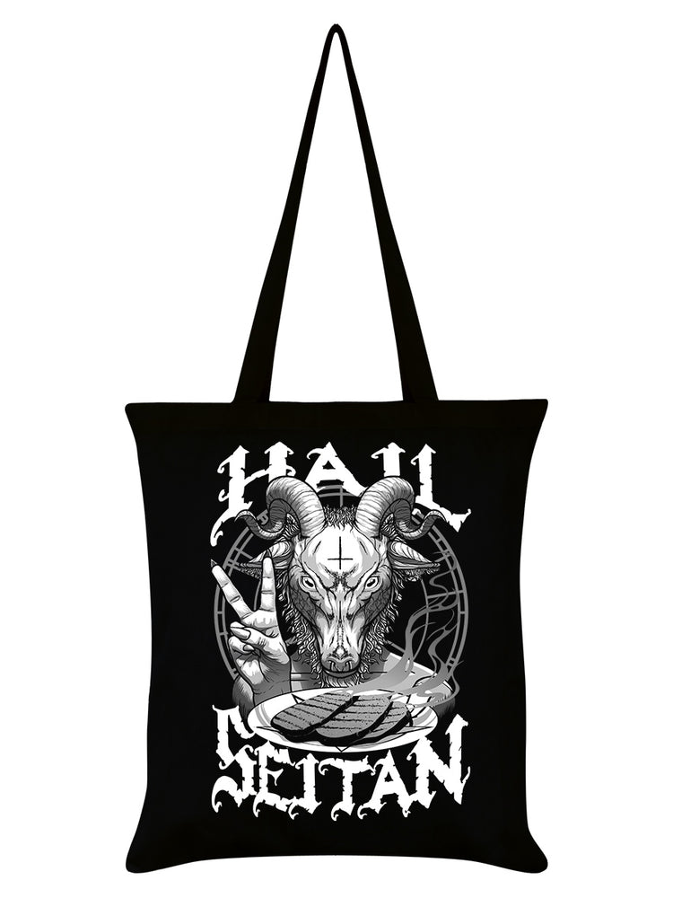 Hail Seitan Black Tote Bag