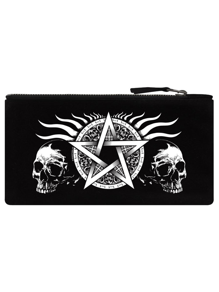 Skull Pentagram Black Pencil Case