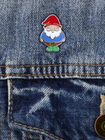 Chubby Gnome Enamel Pin Badge