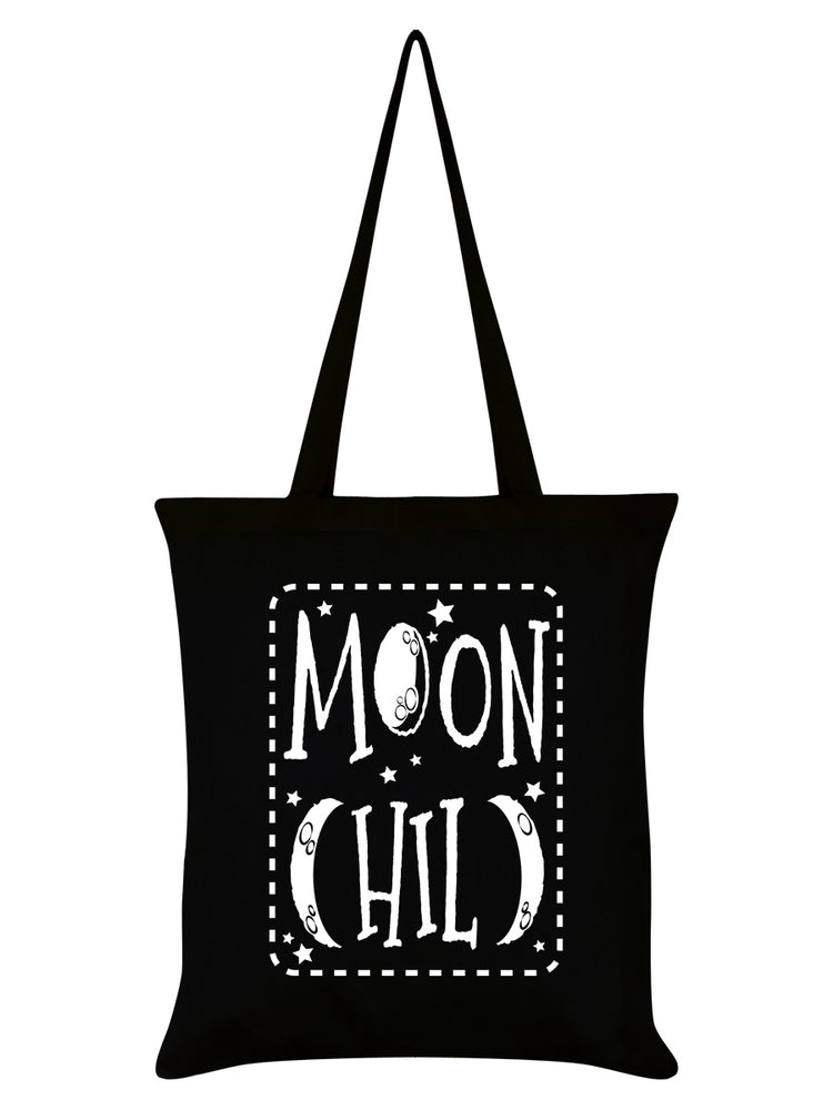 Moon Child Black Tote Bag