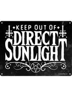 Keep Out Of Direct Sunlight Mini Tin Sign