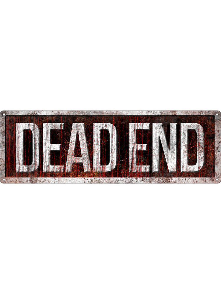 Dead End Slim Tin Sign