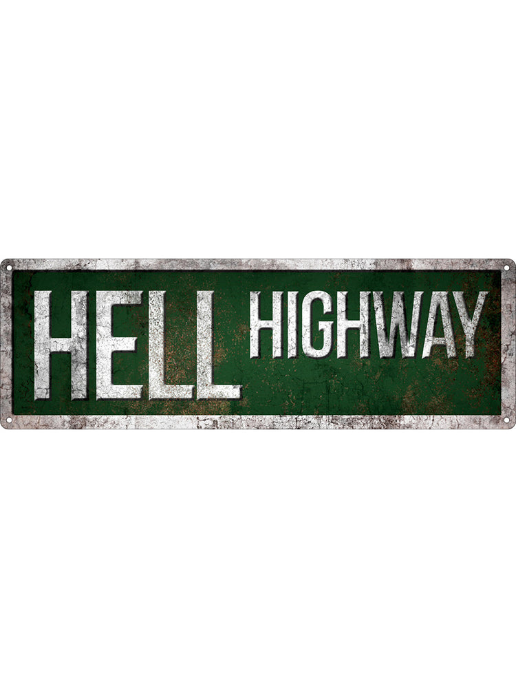 Hell Highway Slim Tin Sign