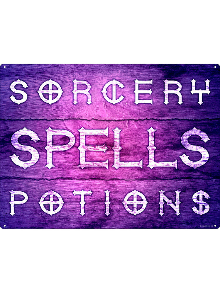 Sorcery, Spells & Potions Tin Sign