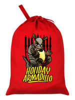 The Holiday Armadillo Red Santa Sack
