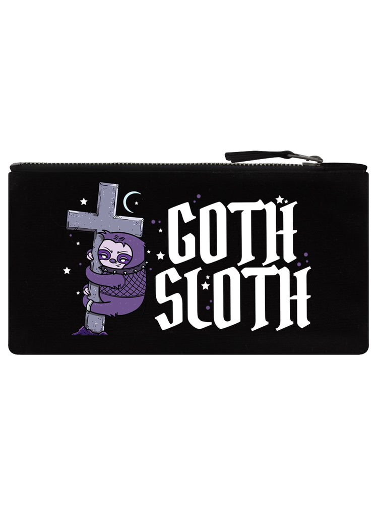 Goth Sloth Black Pencil Case