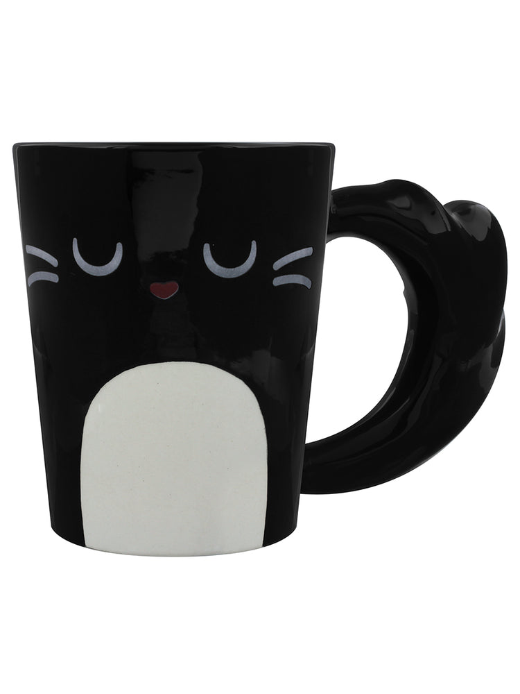 Feline Fine Black Cat Latte Mug