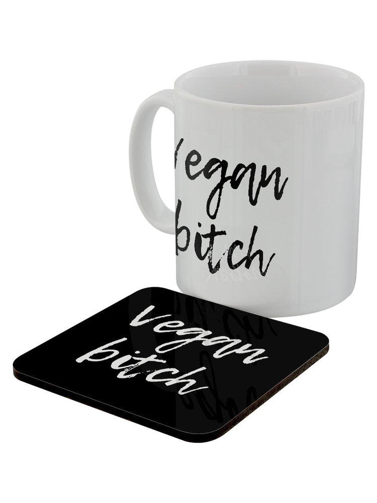 Vegan Bitch Mug & Coaster Set