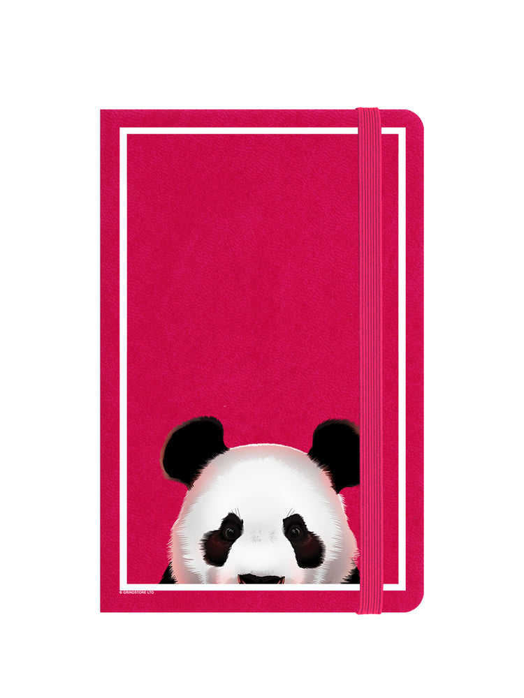 Inquisitive Creatures Panda A6 Pink Notebook