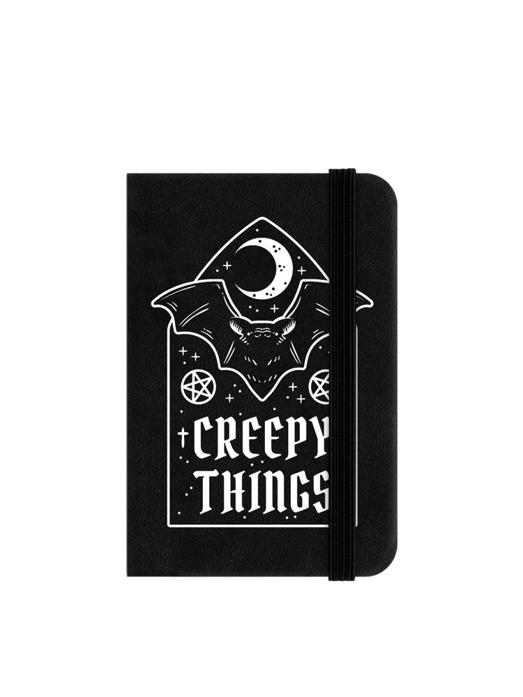 Creepy Things Mini Black Notebook