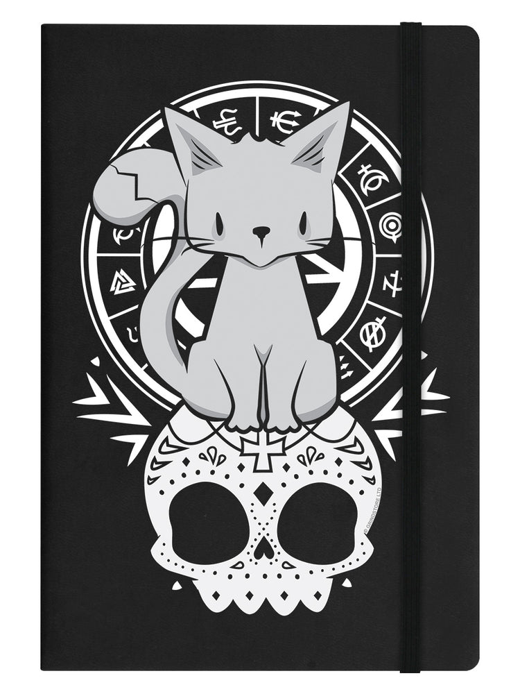 Kitten Of The Night Black A5 Hard Cover Notebook