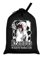 Krampus Be Good For Goodness Black Santa Sack