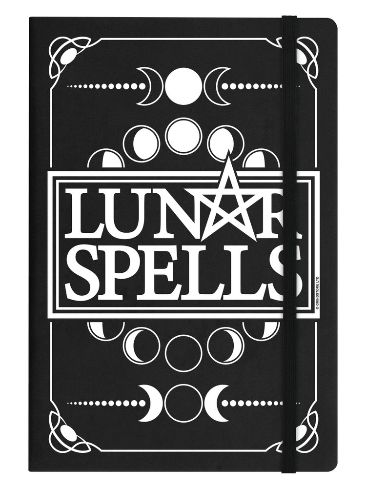 Lunar Spells A5 Black Hard Cover Notebook