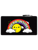 Dead Inside Black Canvas Pencil Case
