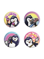 Psycho Penguin Not Listening Badge Pack