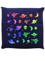 Aliens Attack Navy Blue Cushion