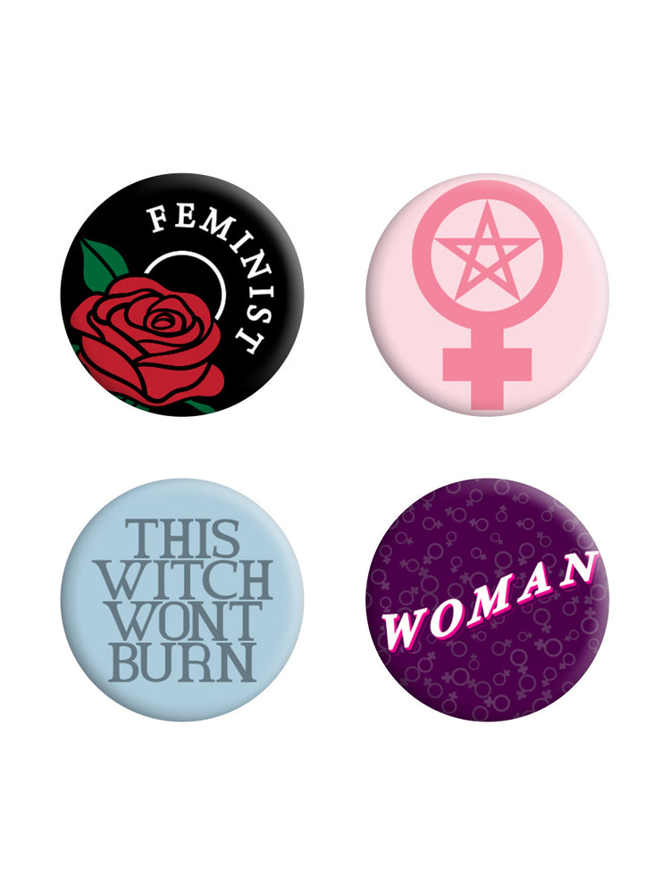 This Witch Won't Burn Feminist Badge Pack