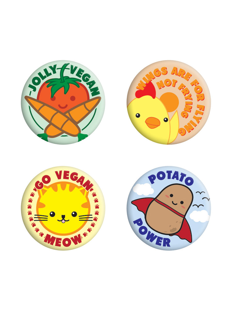 Jolly Vegan Badge Pack