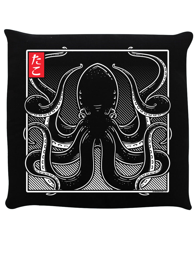 Unorthodox Collective Oriental Octopus Black Cushion