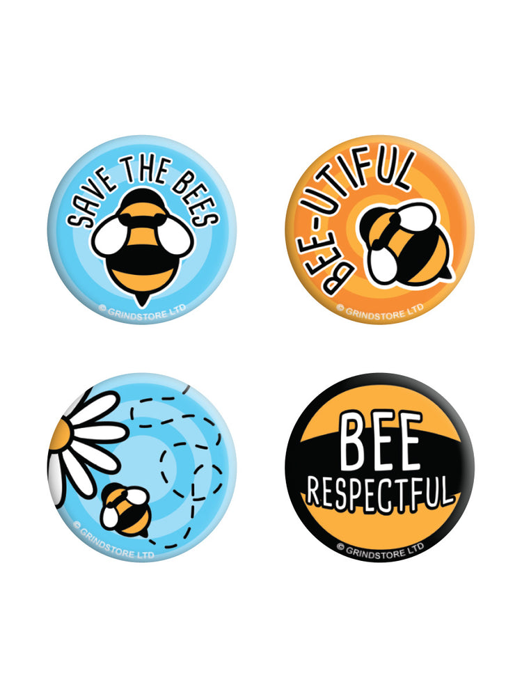 Save The Bees Badge Pack