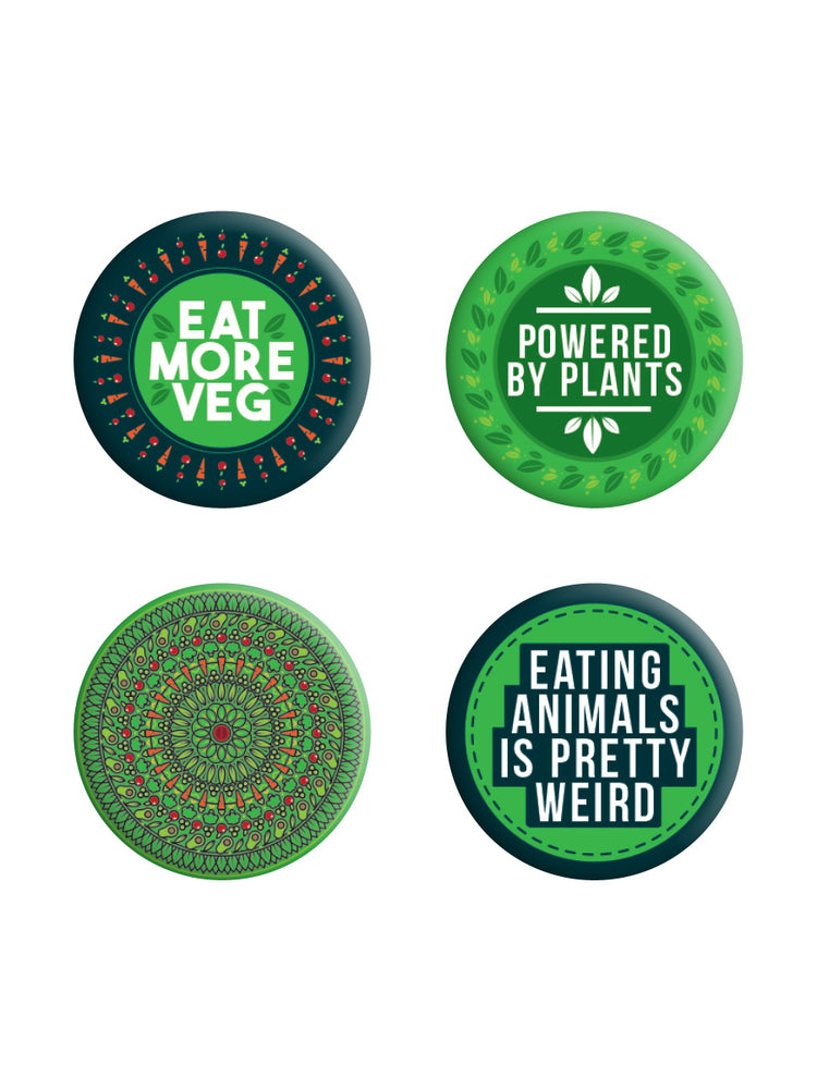 Powered By Plants Badge Pack
