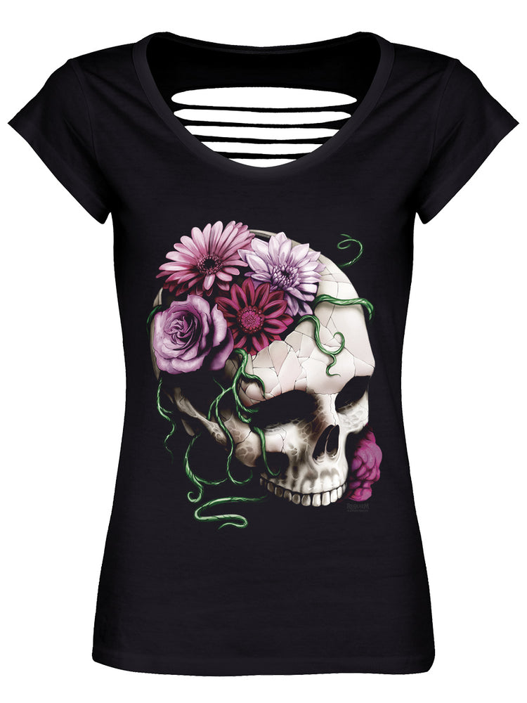 Requiem Collective Cranial Bloom Black Razor Back T-Shirt