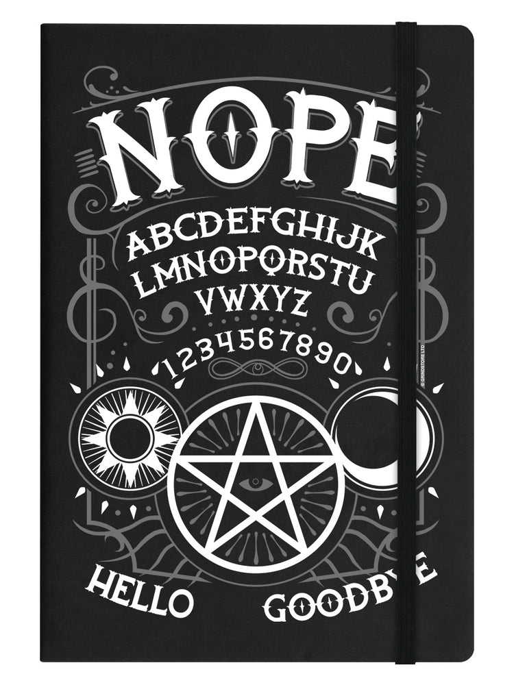 Nope Ouija Black A5 Hard Cover Notebook