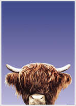 Inquisitive Creatures Highland Cow Mini Poster