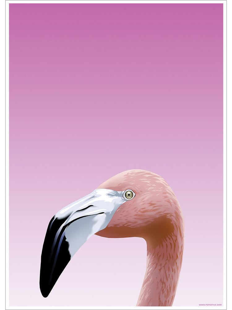 Inquisitive Creatures Flamingo Mini Poster