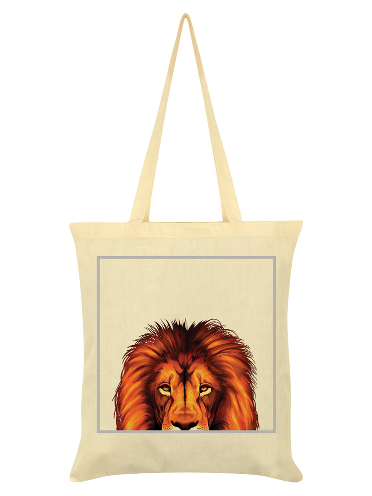 Inquisitive Creatures Lion Cream Tote Bag