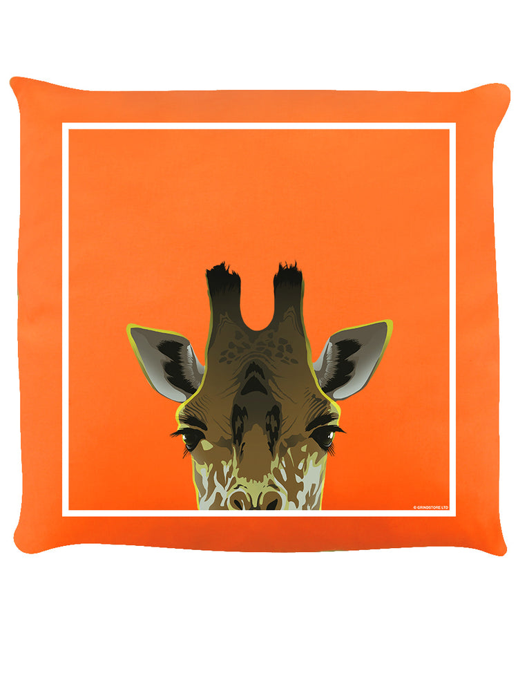 Inquisitive Creatures Towering Giraffe Cushion