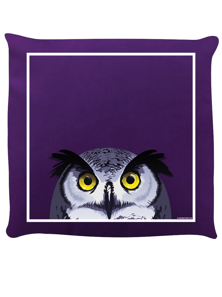 Inquisitive Creatures Bright-Eyed Owl Cushion