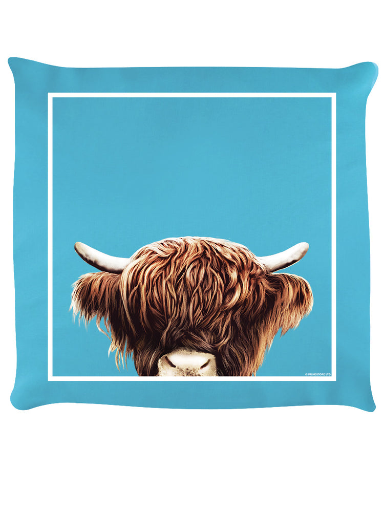 Inquisitive Creatures Highland Cow Cushion