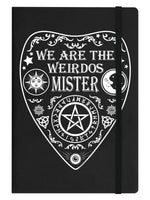 We Are The Weirdos Mister Ouija Black A5 Hard Cover Notebook