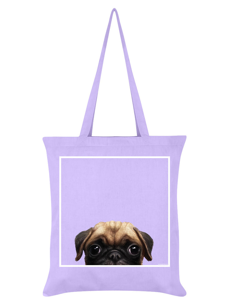 Inquisitive Creatures Pug Lilac Tote Bag