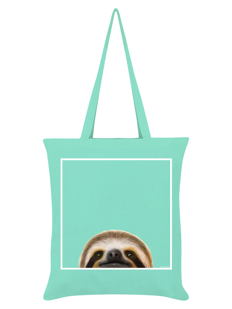 Inquisitive Creatures Sloth Mint Green Tote Bag