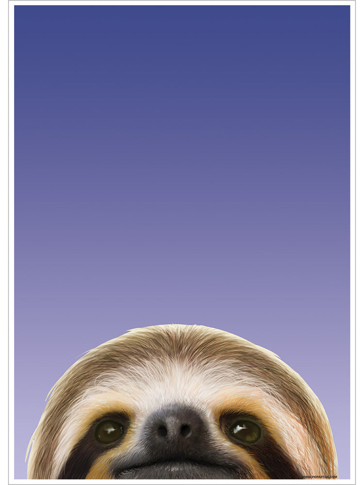 Inquisitive Creatures Sloth Mini Poster