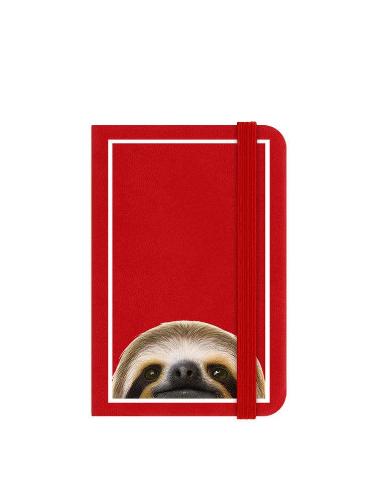 Inquisitive Creatures Sloth Mini Red Notebook