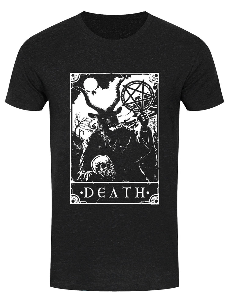 Deadly Tarot - Death Men's Heather Black Denim T-Shirt