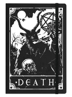 Deadly Tarot - Death Black A5 Hard Cover Notebook