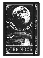 Deadly Tarot - The Moon Black A5 Hard Cover Notebook