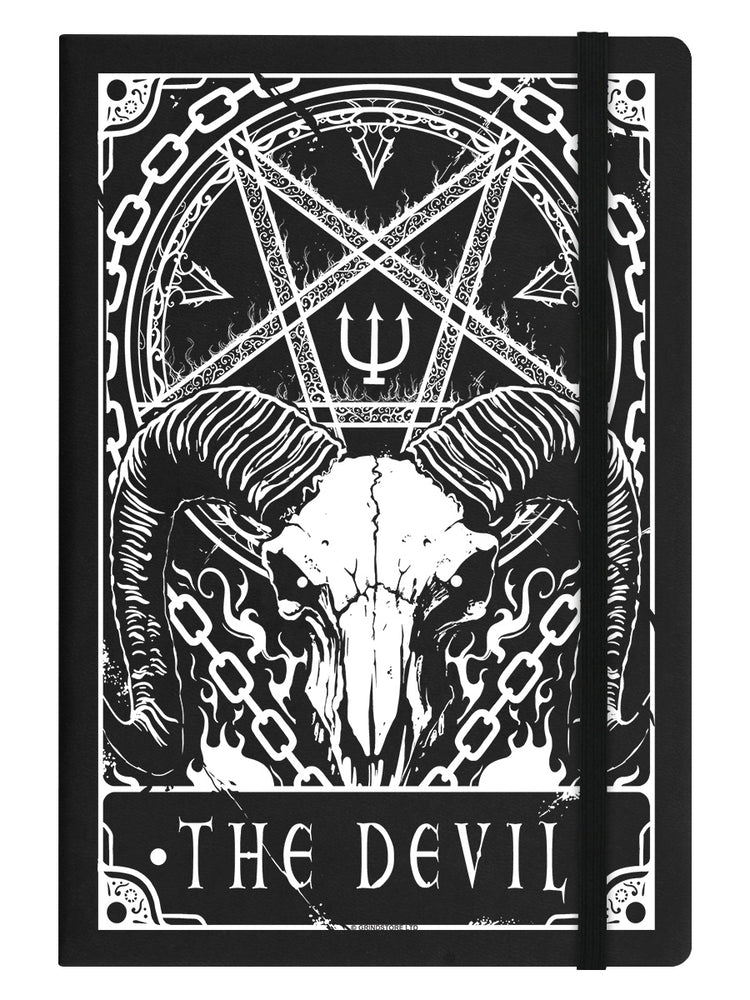 Deadly Tarot - The Devil Black A5 Hard Cover Notebook