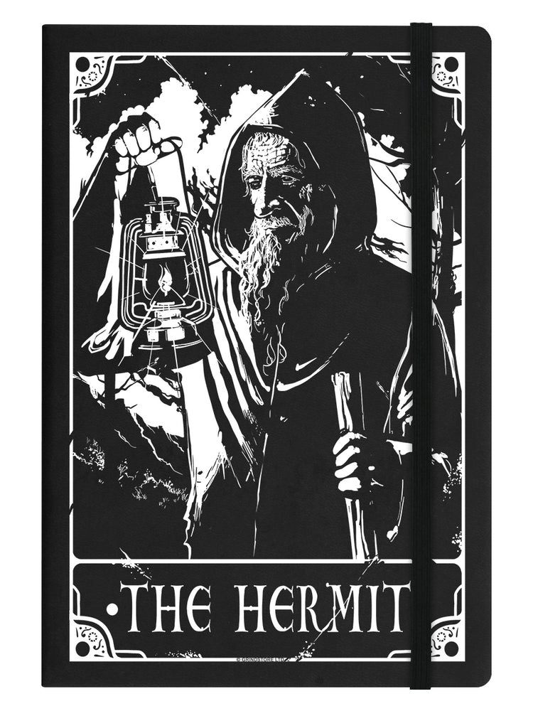 Deadly Tarot - The Hermit Black A5 Hard Cover Notebook