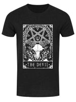 Deadly Tarot - The Devil Men's Heather Black Denim T-Shirt