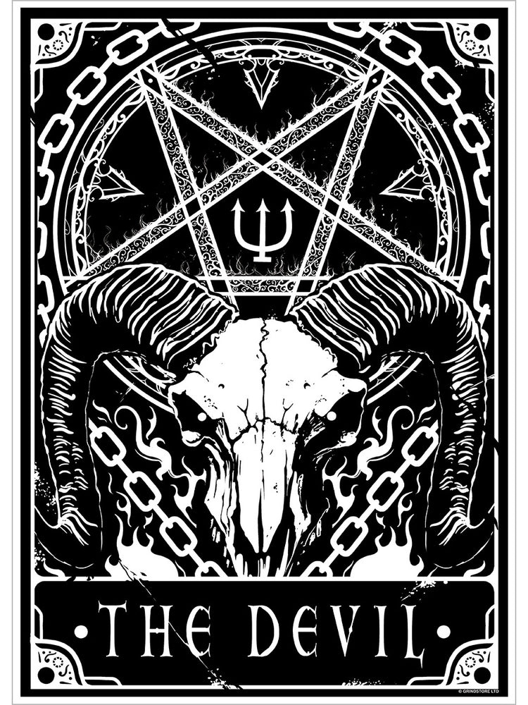 Deadly Tarot - The Devil Mini Poster