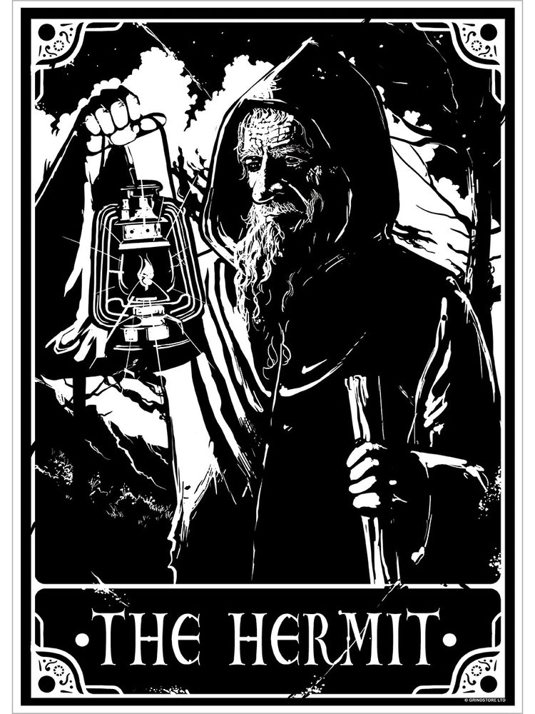 Deadly Tarot - The Hermit Mini Poster