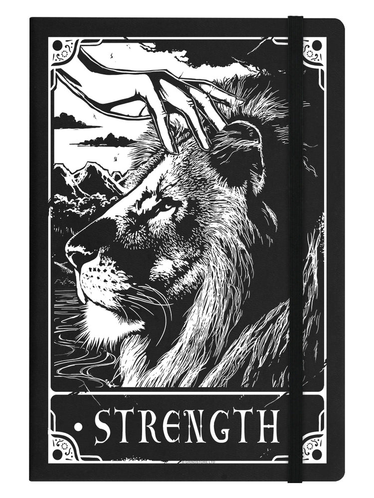 Deadly Tarot - Strength Black A5 Hard Cover Notebook