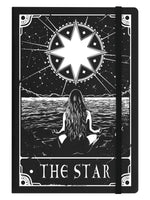 Deadly Tarot - The Star Black A5 Hard Cover Notebook