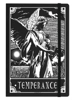 Deadly Tarot Temperance Black A5 Hard Cover Notebook