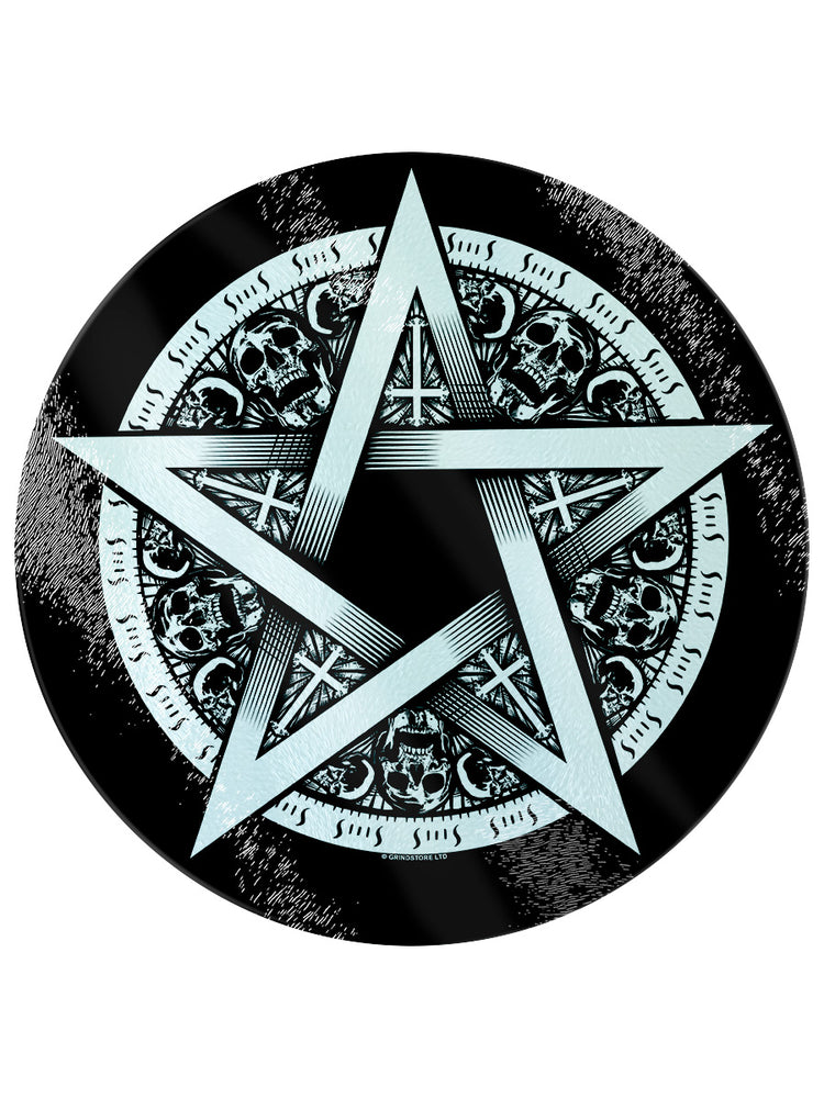 Pentagram Star Circular Glass Chopping Board